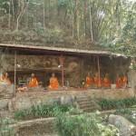 Temple ancien dans la roche