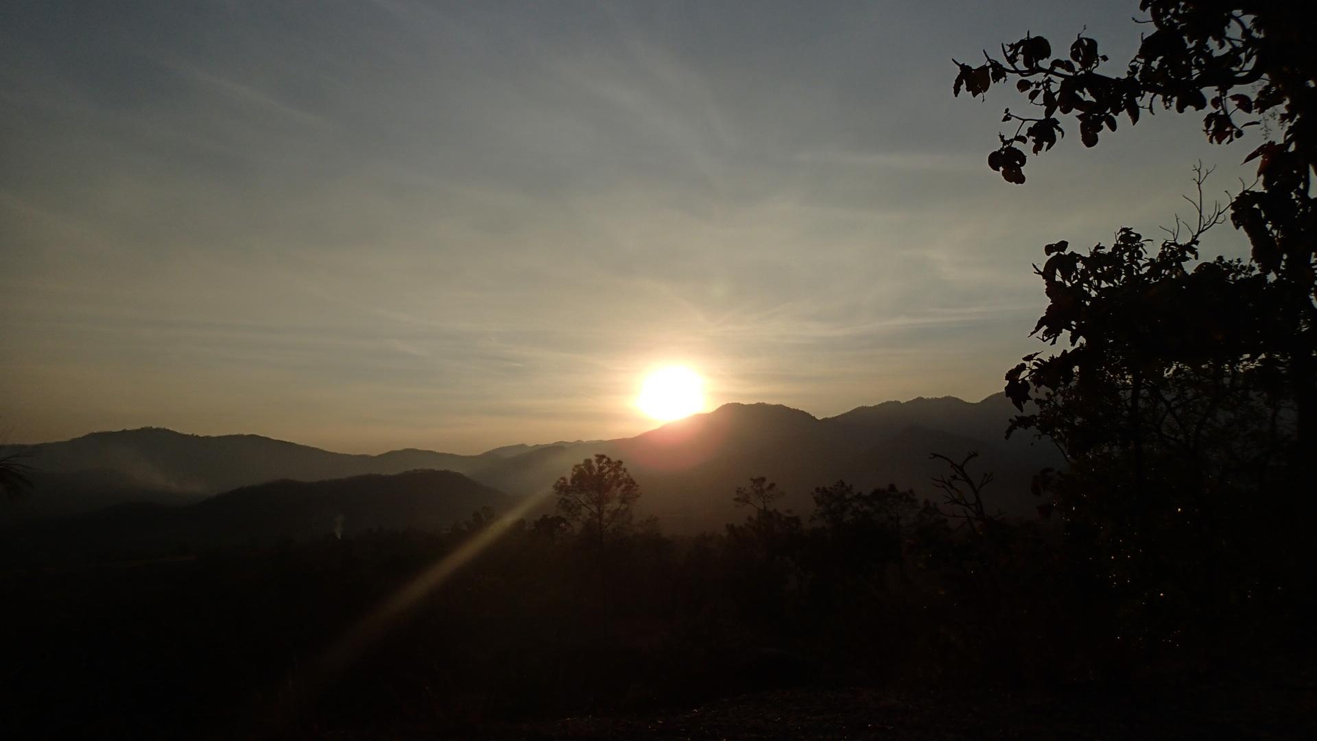 Couché de soleil au Pai canyon