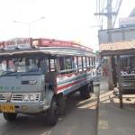 Autobus en direction de la veille ville de Sukhothai