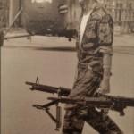 Soldat US se préparant au combat