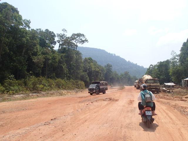 Les routes en construction