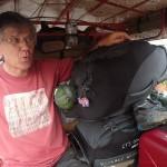 Dans le touk-touk avec les bagages