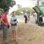 En panne à la sortie en Kampot