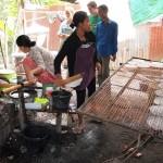 Fabrication de feuilles de riz pour rouleaux de printemps