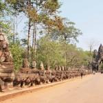 Porte sud de la cité royale d'Angkor Thom