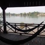 Vue sur le Mékong depuis notre bungalow