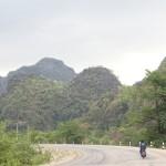Au départ de la boucle de trois jours à moto