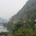 Sur la route entre LP et Vieng Xai