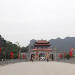 Entrée de l'ancien palais impérial à Hoalu