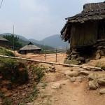 Système d'irrigation des rizières en bambou