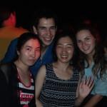 Avec Amanda (notre hote couchsurfing) et sa colloc Halo