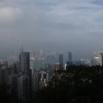 Vue depuis le Peak sur HK et son quartier d'affaires