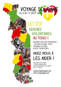 PARTEZ AU TOGO EN TANT QUE VOLONTAIRE POUR L'ASSOCIATION FIVE HEARTS
