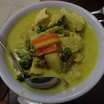 Notre curry de poulet au lait de coco!
