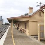 Station de train à Culcairn pour arriver à la ferme de dromadaires