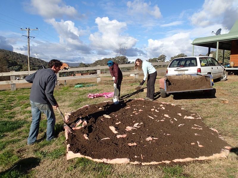 Préparation des fondations d'un nouveau jardin