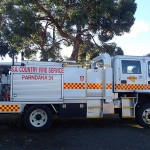 Visite de l'île en camion de pompier (notre hôte est pompier volontaire)