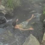 Source d'eau chaude naturelle à 40-45° en plein hiver à Taupo