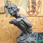 Statue de Golum au départ de Hobbiton