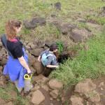 Visite des grottes avec Isa