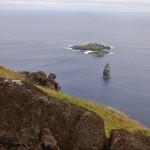 Ile de Moto Nui que devaient atteindre à la nage les compétiteurs afin de récupérer l'oeuf de l'hirondelle de mer Manutara