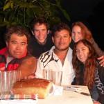 De gauche à droite, nos hôtes: Elias, Carlos alias Moncho et Isa
