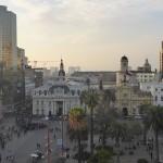 Vue sur la place des Armes de Santiago