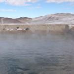 Source d'eau chaude à 4300m