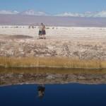 Los Ojos del Salar, deux puits d'eau douce en plein milieu du désert de sel et personne ne serait expliquer le phénomène