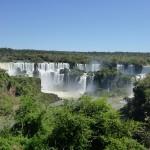Vue des chutes d'Iguazu depuis le coté brésilien