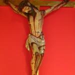 Contrairement à l'Europe, représentation réaliste de la souffrance et de l'agonie de Jésus