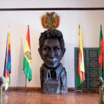 Sculpture de Bolivar, libérateur de la Bolive