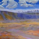 Visite des ruines Aymara de Tiwanaku : ici représentation des ruines telles qu'elles sont supposées avoir été