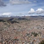 Vue depuis les hauteurs de la ville de La Paz