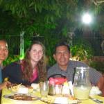 Repas avec notre amie Ambre et notre formidable guide Luis