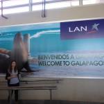 Arrivée à l'aéroport des Galapagos