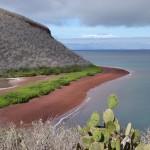 Magnifique plage de sable rouge