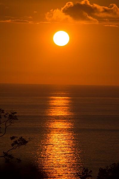 Coucher de soleil à la Vista Serena de Quepos