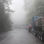 Sur la route des caraibes... Bloqués 2h en raison d'une chute de pierres