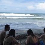 Premier jour de plage sur la côte caraïbe