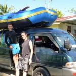 Départ pour une journée de rafting