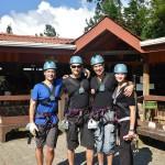 Début du parcours de tyroliennes à Monteverde