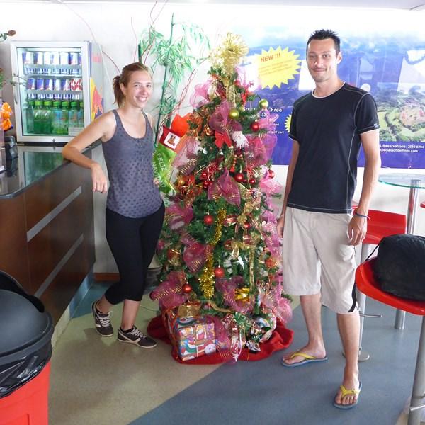 Noel en décembre sur le bateau